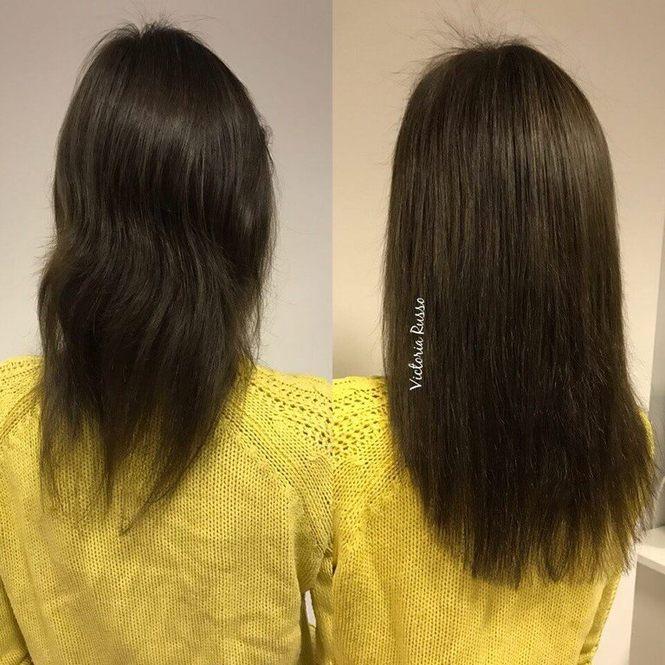 наращивание волос для объема