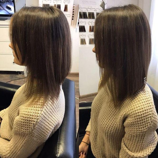 Наращивание волос на передние пряди